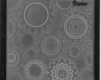 Darice Embossing Folder  --  New  -- Steam Punk  --  (#3103)