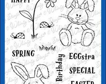 Whimsy Stamps --    Hoppy Spring   -- NEW  -- (#3597)