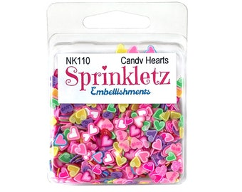 Buttons Galore -- Sprinkletz --  CANDY HEARTS  -- NEW  (#3707)