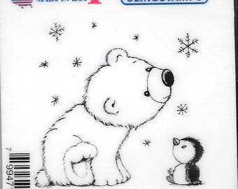 Deep Red Cling Stamps -- Polar Friends  -- NEW -- (#2732)