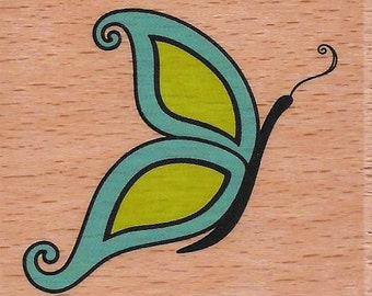 Butterfly Stamp --   NEW  -- Wood Mounted Rubber Stamp --  Studio G Brand --   (#1294)