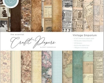 6 x 6 Paper Pad ~ Vintage Emporium ~ Double sided  - NEW (#4157)