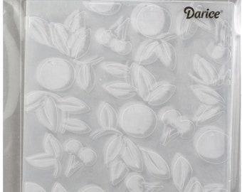 Darice Embossing Folder  --  New  --  Cherry  --  (#3915)