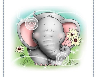 Whimsy Stamps --  Well Rounded Elephant  -- NEW  -- (#2711)
