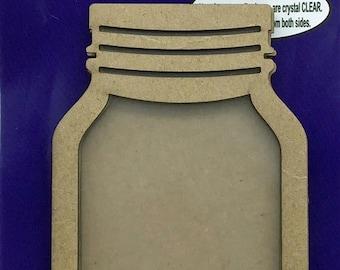 Clear Scraps -- Mini Shaker  --  MASON JAR -- NEW  (#3530)