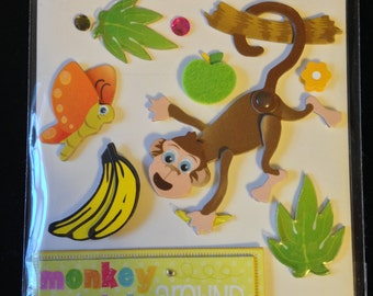 K & Company --  Monkey Around  --  NEW -- dimensional stickers  --    (#1630)