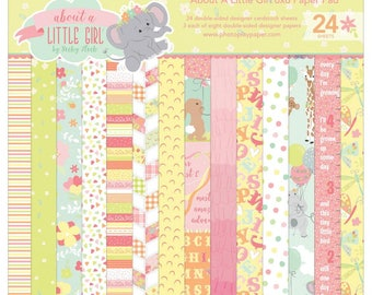 6 x 6 Paper Pad ~ About A Little Girl ~ Double sided  NEW  (#2509)
