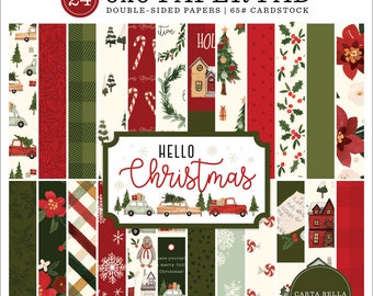 6 x 6 Paper Pad ~  Hello Christmas  ~ Double sided  NEW  (#3874)