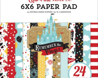 6 x 6 Paper Pad ~ Remember The Magic ~ Double sided NEW (#3973)