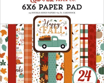 6 x 6 Paper Pad ~ Happy Fall ~ Double sided NEW (#3869)