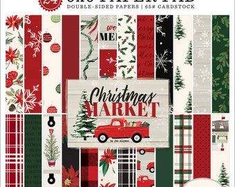 6 x 6 Paper Pad ~ Christmas Market  ~ Double sided  NEW  (#3325)
