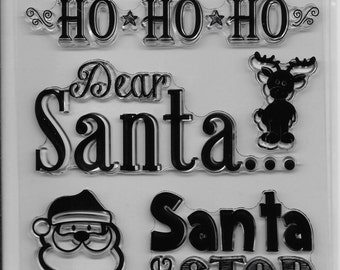 Holiday Trendz Clear Stamp Set --  NEW  -- Dear Santa  --      (#1844)