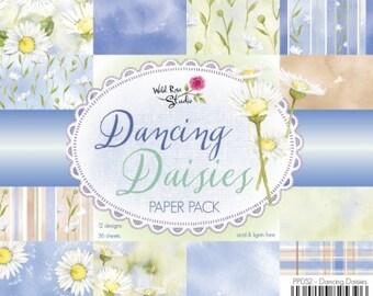 6 x 6  Paper Pad  ~~  Dancing Daisies Paper Pack  ~~   Wild Rose Studio Brand  ~~  NEW  (#2434)