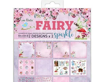 6 x 6 Paper Pad ~ Fairy Sparkle ~ Double sided ~ NEW (#4042)