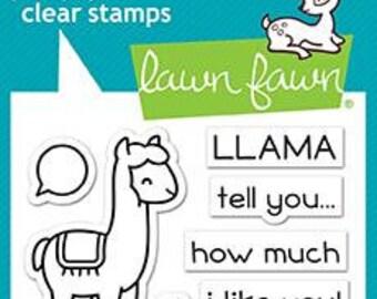 Lawn Fawn -- Llama Tell You   -- NEW -- (#4179)