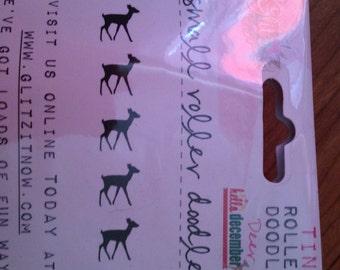 Glitz Brand Roller Stamp --  NEW  -- Deer --  1 piece  --  (#1734)