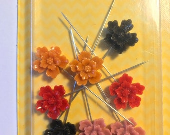Sugar Picks  -- Resin Flower Pins --  Celebrate --  8 pieces  --  NEW   (#1993)