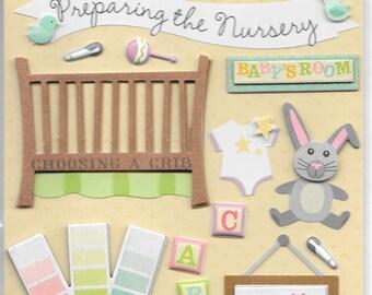 K & Company LLO  -- Preparing the Nursery --  NEW --  dimensional stickers  (#1709)