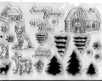 Christmas Clear Stamp Set #3 --  NEW  --   (#2633)