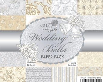 6 x 6 Paper Pack ~~ Wedding Bells ~~ Wild Rose Studio Brand ~~ NEW (#2452)