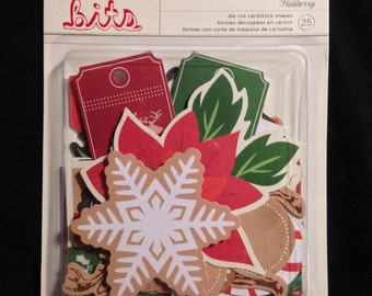 American Crafts  -- Holiberry  -- Christmas Bits  --  New  --    (#1529)  25 pieces