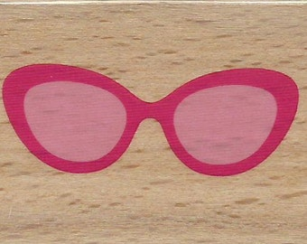 Sunglasses Stamp --   NEW  -- Wood Mounted Rubber Stamp --  Studio G/Hampton Arts Brand --   (#1145)
