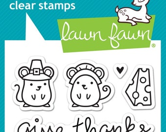 Lawn Fawn --   Thankful Mice  -- NEW -- (#4193)