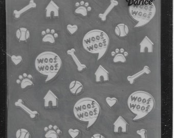 Darice Embossing Folder  --  New  -- Dog  --  (#3102)