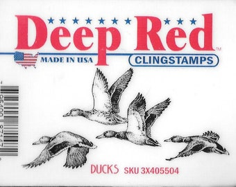 Deep Red Cling Stamps --  Ducks -- NEW -- (#2932)