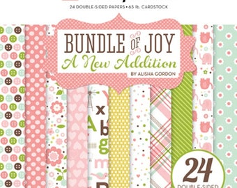 6 x 6 Paper Pad ~ Bundle Of Joy Girl ~ Double sided  NEW  (#2558)