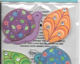 Jolee's Boutique -- Colorful Snails -- NEW -- (#3006)