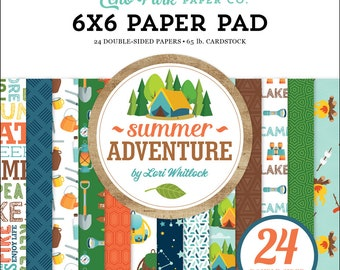 6 x 6 Paper Pad ~  Summer Adventure  ~ Double sided NEW (#3658)