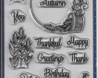 Your Next Stamp --  Autumn Wreaths  -- NEW -- (#3249)