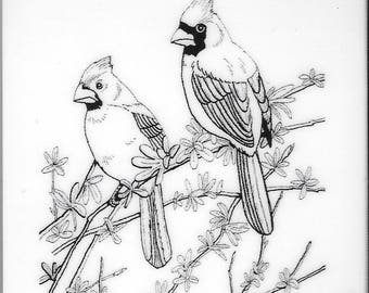 Deep Red Cling Stamps --  Cardinals -- NEW -- (#2498)