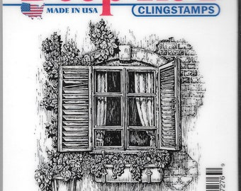 Deep Red Cling Stamps -- Window Planter  -- NEW -- (#2716)