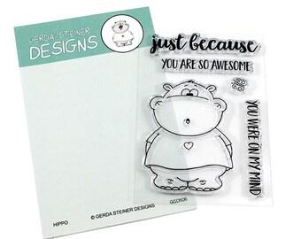 Gerda Steiner Designs -- Hippo  -- NEW -- (#3574)