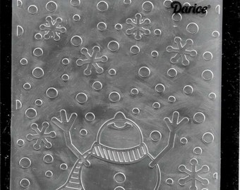 Darice Embossing Folder -- New -- Snowman Arms Up  -- (#3111)