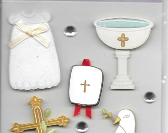 K & Company   -- Child's Christening --  NEW --  dimensional stickers  (#1708)