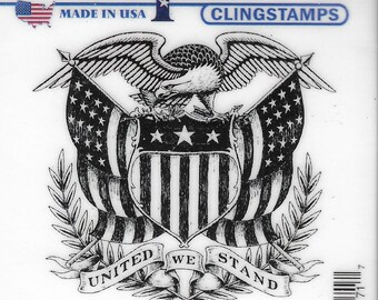 Deep Red Cling Stamps --   United We Stand   -- NEW -- (#3797)