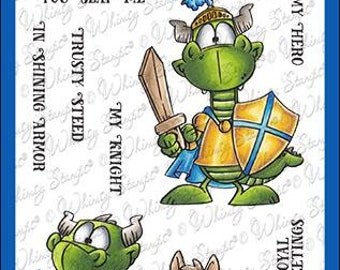 Whimsy Stamps --   Knight Dragons   -- NEW  -- (#4259)