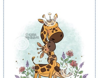 Whimsy Stamps --   Giraffe Baby Love  -- NEW  -- (#3034)