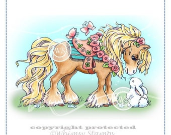 Whimsy Stamps -- Summer Pony  -- NEW -- (#2182) Crissy Armstrong Collection