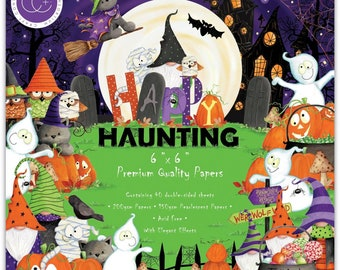 6 x 6 Paper Pad ~  Happy Haunting  --   Double sided  - NEW (#3970)