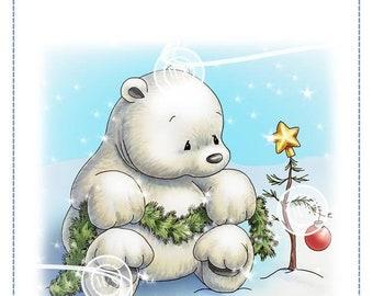 Whimsy Stamps -- Polar Bear's Christmas Tree   -- NEW  -- (#2897)