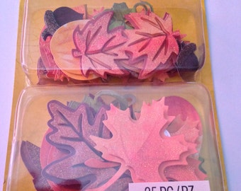 K & C   --  Fall Leaves Layered Accents --  NEW --   (#1731)
