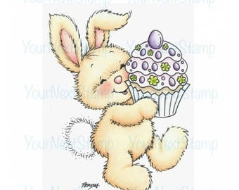 Your Next Stamp -- Yummy Cupcake Bunny -- NEW -- (#2676)