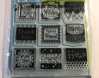 Stamp Set  --  NEW  -- All Occasion  Inchie  Stamps --  (#3059)