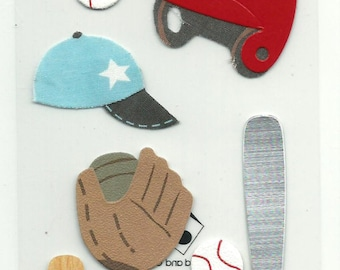 Jolee's Boutique --  Baseball   --  12 pieces  --  self adhesive dimensional sticker -- NEW   (#1102)