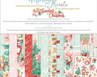 6 x 6 Paper Pad ~ Sweetest Christmas  ~ Double sided  NEW  (#4036)