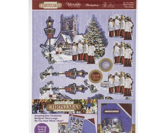 Hunkydory  --  Do You Hear What I Hear  -- NEW -- (# 3299) Christmas Card Making Kit